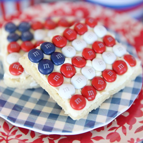 M&M Flag Sugar Cookies:
