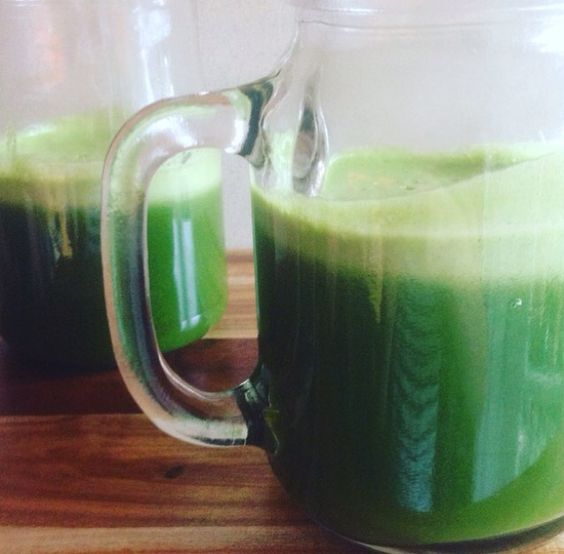 "Needing to clean and reboot your liver? Why not try this Liver Detox Juice, containing spinach, silverbeet, kale, lime, ginger, celery, cucumber and green apple! It is a clean, fresh juice packed full of flavour and nutrients! Remember that ""GREEN"" week should be EVERY week and treat your body with love and it will look after you in return! #greenveggies #juice #green #nutrition #liver #detox #beauty #sugarfree #healyourbody #healthyliving #healthyeating #guthealth #vegetables #BEhealth"