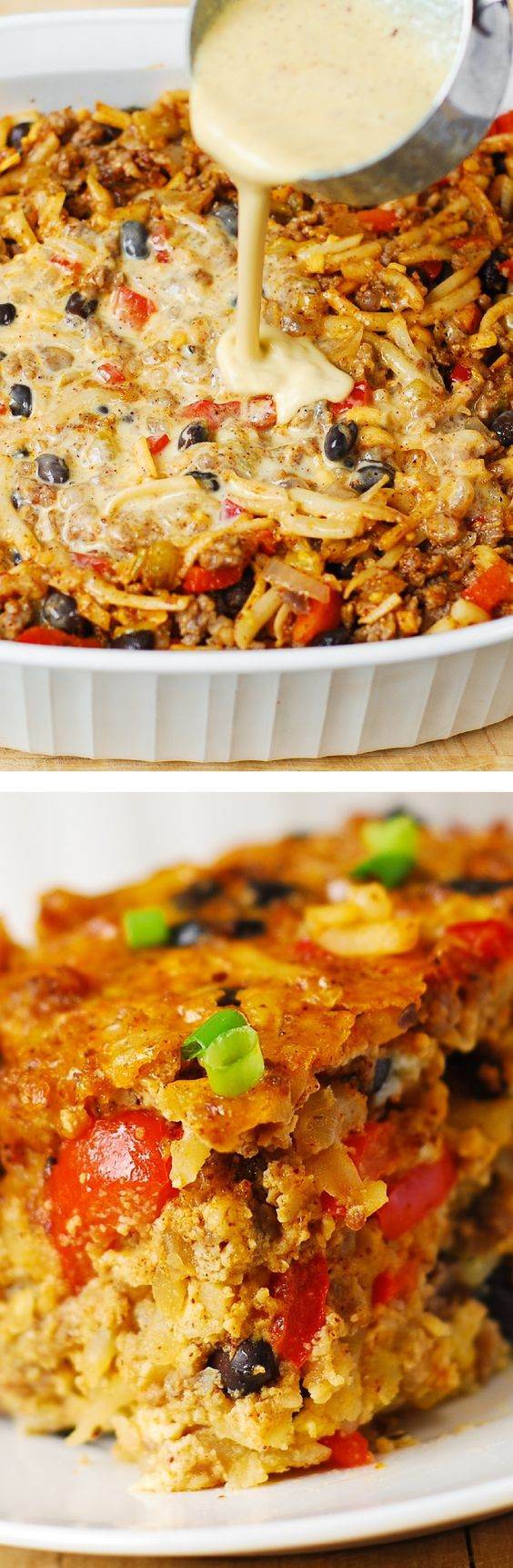 Southwestern Breakfast Casserole | Recipe | Hash browns ...