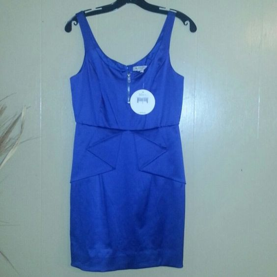 BCBG ruffle waist mini dress royal blue sz 4 nwt BCBG ruffle waist tank dress, sz 4, royal blue, mini, zippered back closure, new with tags BCBGeneration Dresses Mini