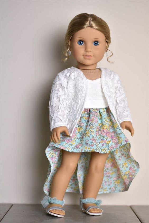 Lace Cardigan American Girl doll Clothes by EliteDollWorld on Etsy