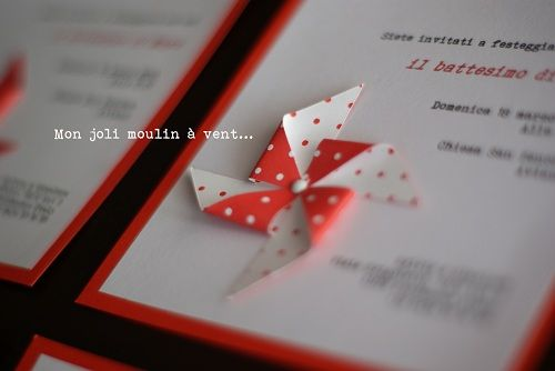 Beautiful idea for an invitation with dual coloured paper
