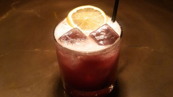 This Blueberry Whiskey Sour Will Be Your Jam: