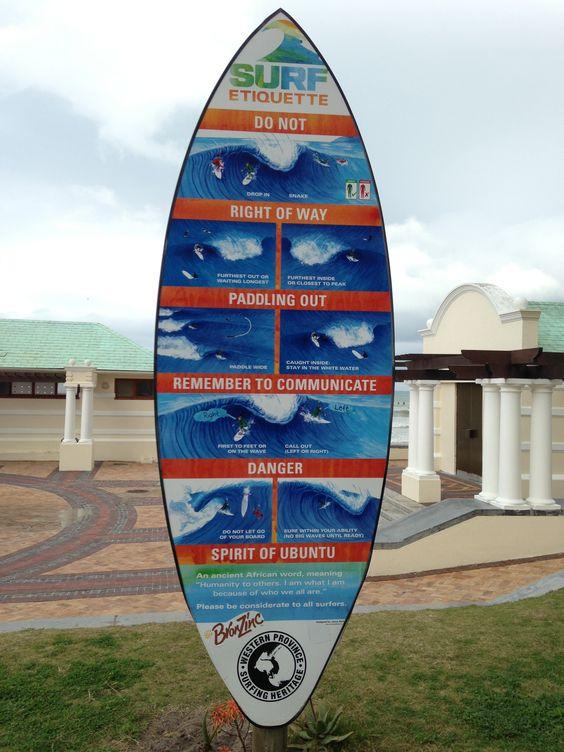 Surf etiquette ...