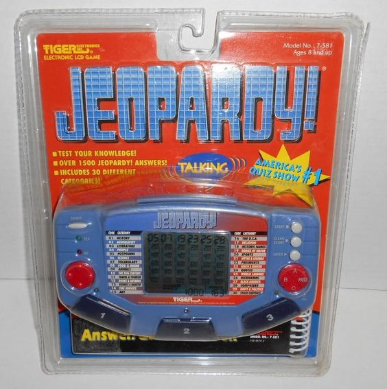 Jeopardy Tiger Electronic LCD 1500 Answers 30 Catagories New Old Stock 1997 NIP #Tiger