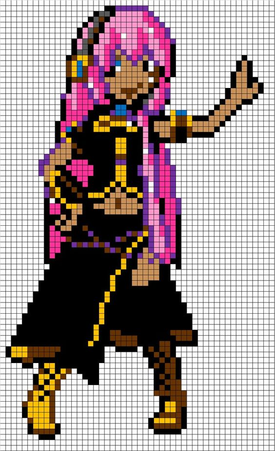 Image Result For Minecraft Anime Pixel Art Grid Pixel Art Pattern Pixel Art Grid Anime Pixel Art