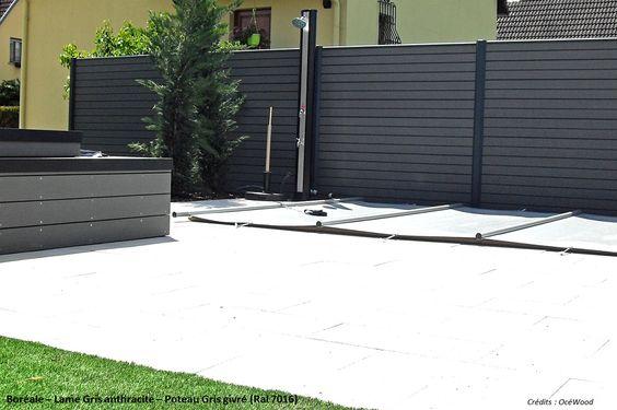 cloture composite bor ale anthracite oc wood cl ture. Black Bedroom Furniture Sets. Home Design Ideas
