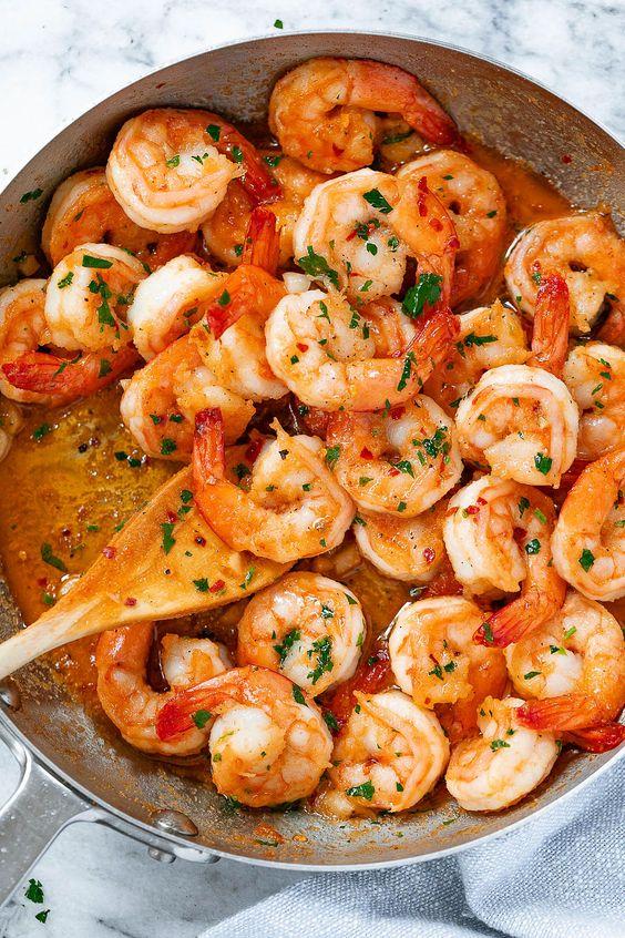 Garlic Butter Shrimp in 10 Minutes