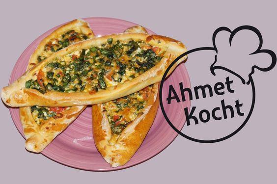 Rezept: Pide mit Spinat und Mozzarella - AhmetKocht - Folge 115
