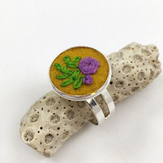 Gorgeous embroidered ring