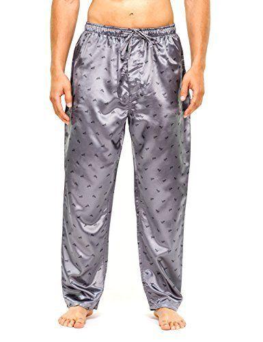 Noble Mount Mens Premium Satin Sleep/Lounge Pants - Grey/Navy  Price : $19.99 http://www.noblemount.com/Noble-Mount-Premium-Satin-Lounge/dp/B00JRH1KWY