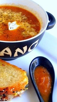 Farmers Market Tomato Soup: looks like tomato soup but it is in fact a loaded-up vegetable bisque.