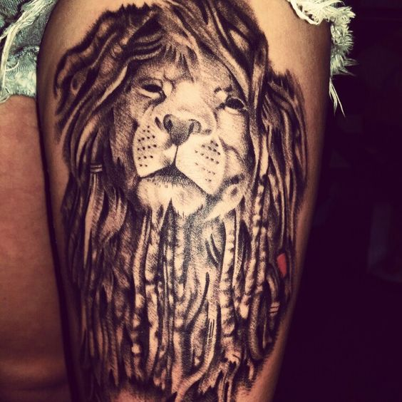Lion with dreads tattoo drawings - photo#7