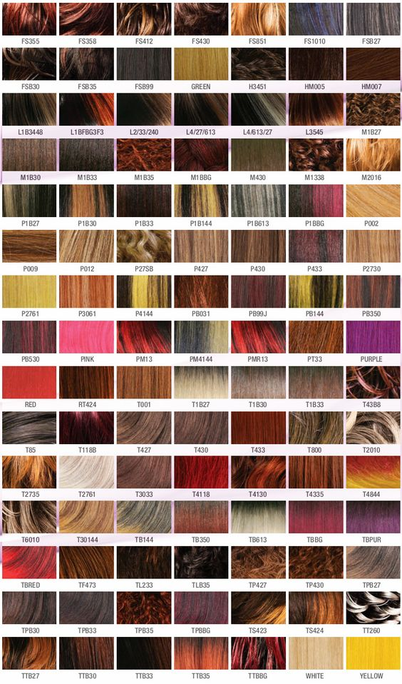 Carefree Color Chart Clearance Wigs Pinterest Clairol hair - hair color chart