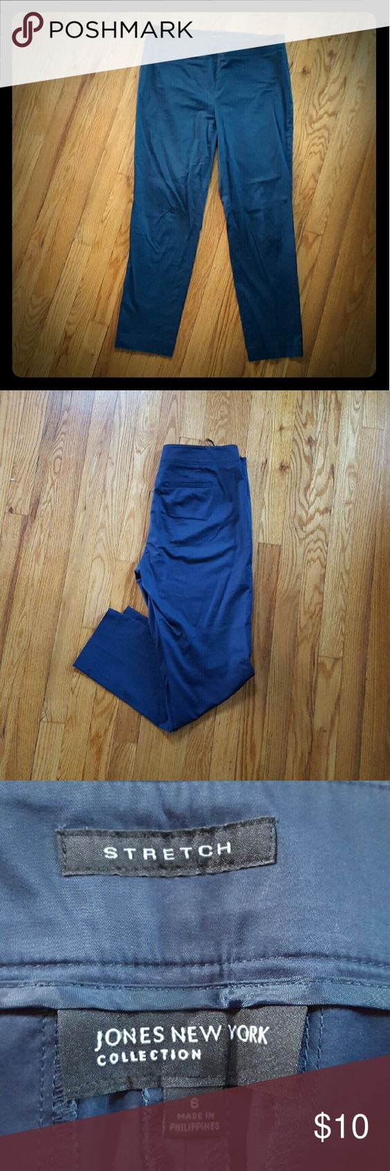"""Jones New York side zip ankle pant Navy blue side zip pant. 29"""" inseam. Very slimming and comfortable. No trades please. Jones New York Pants Ankle & Cropped"""