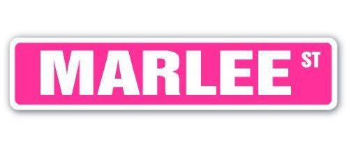 "MARLEE Street Sign name kids childrens room door bedroom girls boys gift by ZANYSIGNS. $8.99. Great for Indoors or Outdoors. Sign Size: 4""x 18"". Proudly Manufactured in the U.S.A.. Makes a Great Gift!. Brand New, Top Quality Sign. This sign is 4""x18"" and made with an exterior grade PVC plastic and printed with the best inks in the industry. Perfect for outdoor use for over 5 years or will look great inside. No rusting or fading indoors or out. The sign come wit..."