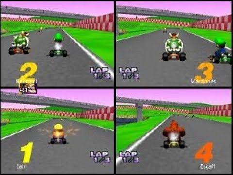 Mario Kart 64 4 Players Battle 2 Nintendo Games Mario Kart 64 Mario Kart Super Mario Games