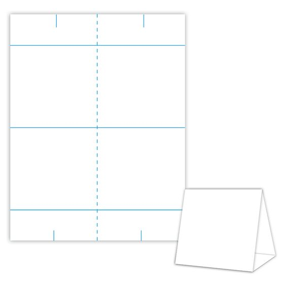 Table tents design templates and tent on pinterest for Table design template