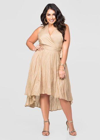 Hi-Lo Crinkle Skirt Dress Hi-Lo Crinkle Skirt Dress