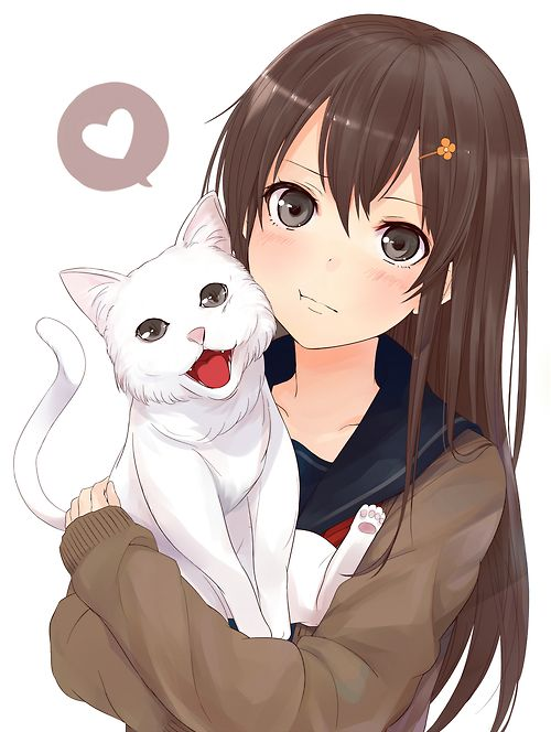 An Anime Character That Looks Like Me : This one looks like me and my kitty anime world