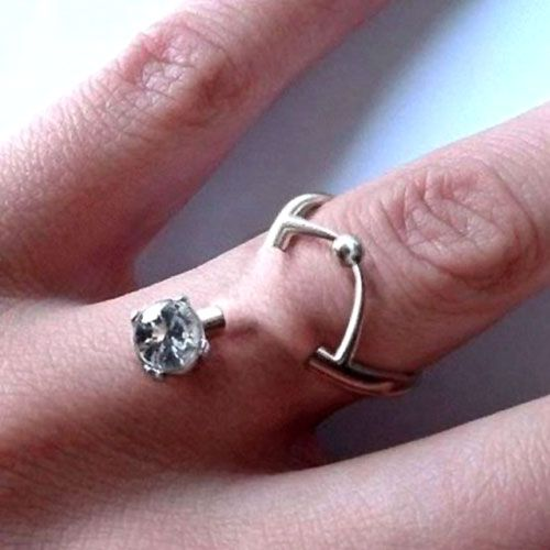 Engagement Piercing Ring. Not exactly your average engagement ring.