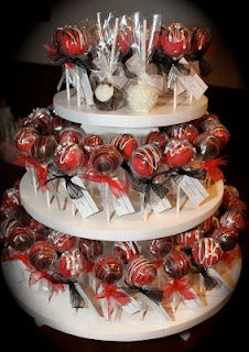 Engagement Cake Pop display