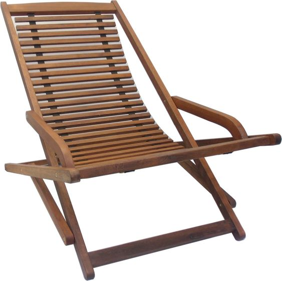 New Timber Outdoor Sun Lounge Reclining Pool Deck Chair Wooden Slats Sorrento