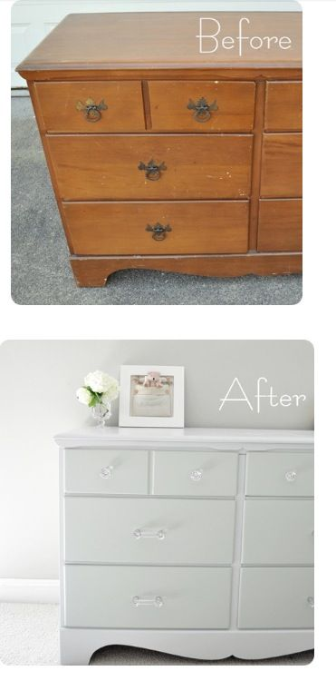 Re-paint an old dresser to give a new look