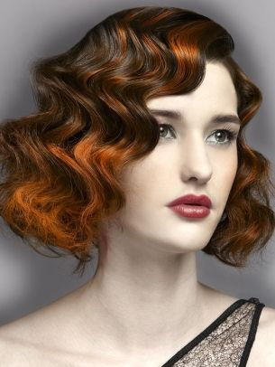 Great colors and the finger waves are fabulous..... One of the first things I learned in beauty school!