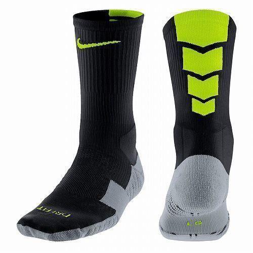 Nike Unisex Performance Crew Soccer Socks Black Gray Volt 6 8 6 10 Sx4854 070 Nike Soccer Socks Socks Black And Grey