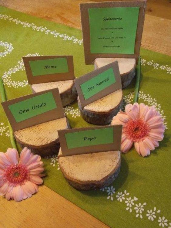 Kerzenhalter Holz Geburtstag ~ tischkartenhalter aus holz für geburtstag hochzeit mehr geburtstag