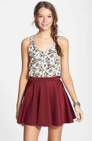 Frenchiu00ae Skater Skirt (Juniors) available at #Nordstrom | Fashion | Pinterest | Scarlett ou0026#39;hara ...