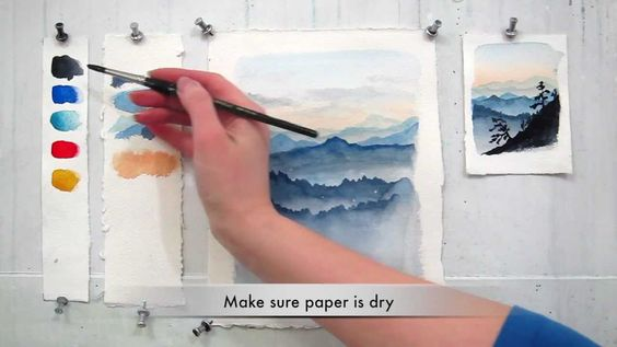 easy step by step watercolor tutorial  painting the blue