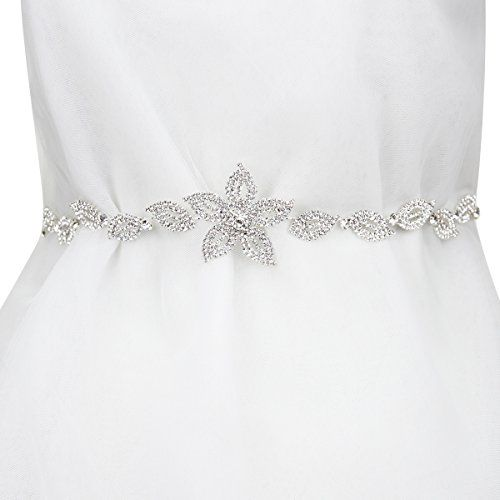 Sp Sophia Collection Floral Rhinestone Vines Bridal Wedding Ribbon