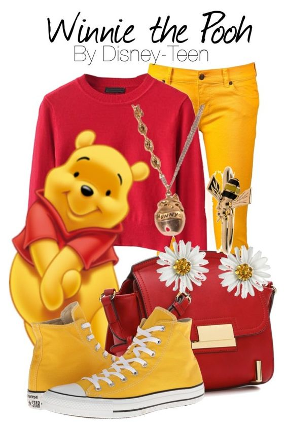Winnie the Pooh by disney-teen on Polyvore featuring Ksubi, Converse, ALDO, Tarina Tarantino and Alison Lou