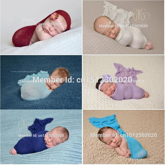 Newborn Baby Stretch Knit Rayon Wrap Photo Props Soft Scarf 28 Colors