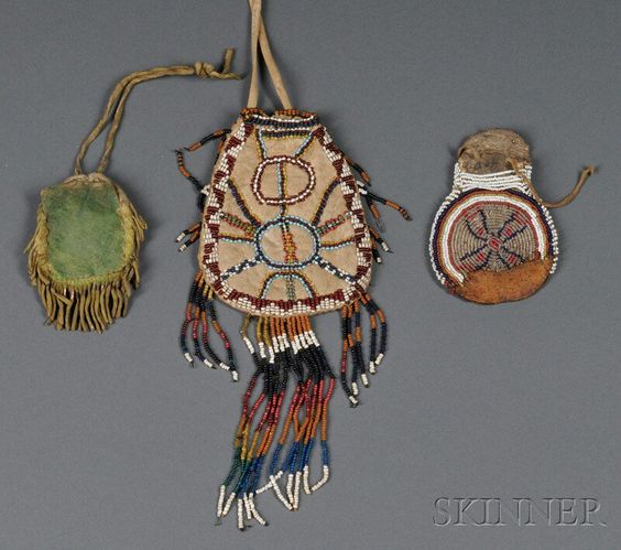 Three Southwest Beaded Pouches