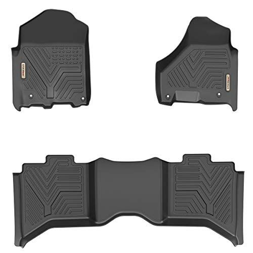 Yitamotor Floor Mats For Ram Custom Fit Floor Liners For 2012 2018 Dodge Ram 1500 2500 3500 Crew Cab Only 1st 2nd Row All Crew Cab Dodge Ram 1500 Ram 1500