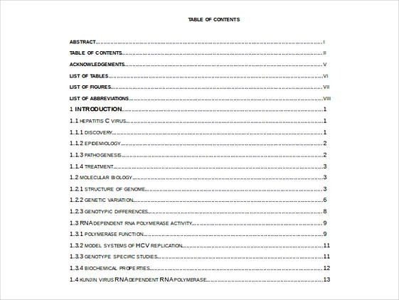 47 Free Download Reading Log Template Table Of Contents