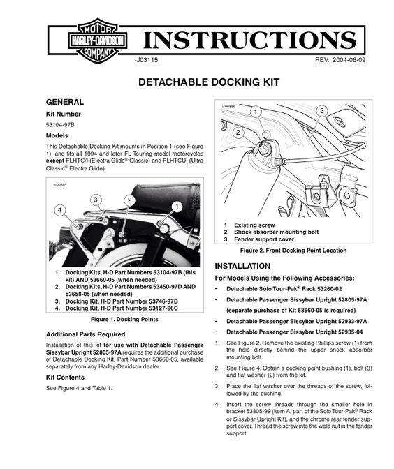 Hd B Tour Pak Instructions