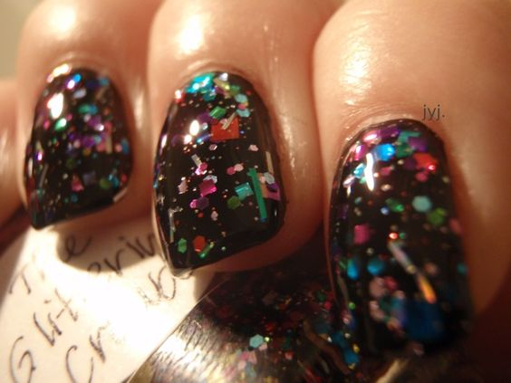 Confetti nails.....cool for New Years or a Birthday!