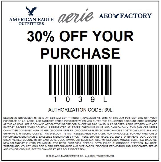 American eagle outfitters coupon codes