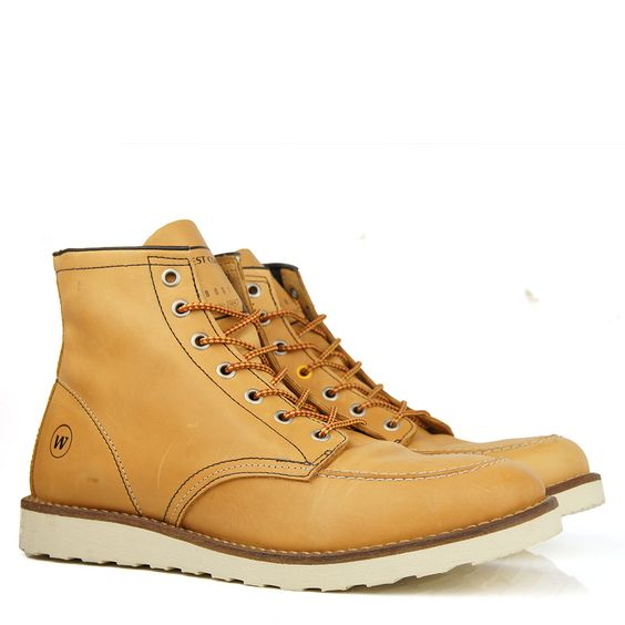 Bota West Coast Baltimore Moc Toe Caramelo - Worker Boot R$ 329