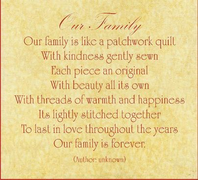 Poems About Family About Family And Quilt On Pinterest