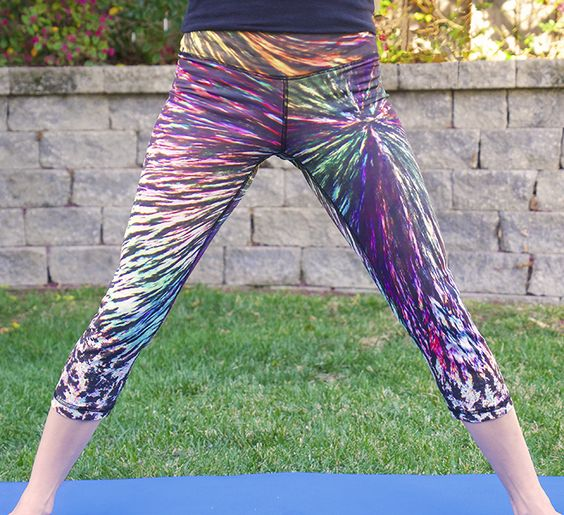 """Celebrating the day in """"Menthol Burst"""" Crystal #Yoga Pants. Lookin' good."""