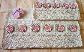 Crochet et Tricot da Mamis: Barrado em Crochet em Diagonal no Ponto Rede e Pontos Altos- Gráfico