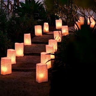 Lighting for an evening garden party