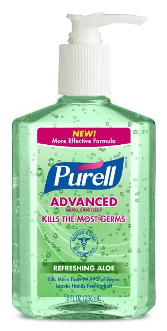 Purell Advanced Hand Sanitizer Aloe, 8 Ounce (Pack of 12)