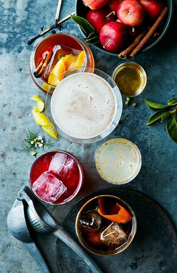 Cocktails, colors.: