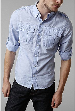 All-Son Mini Pinstripe Military Shirt from Urban Outfitters.